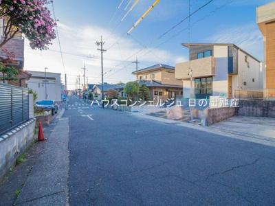 【前面道路含む現地写真】名古屋市名東区平和が丘4丁目153【仲介手数料無料】新築一戸建て