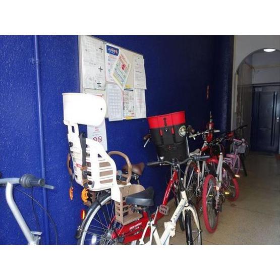 自転車が置いてあります。