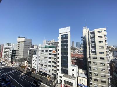 8階部分のお部屋からは中目黒の街並みを一望できます。