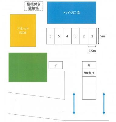 【区画図】パレットEZOE駐車場