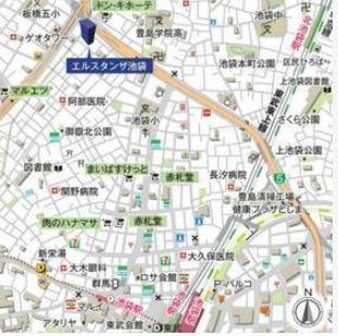 【地図】エルスタンザ池袋