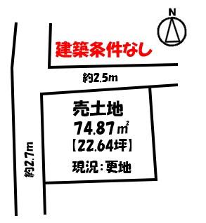 【外観】久保3丁目 売土地