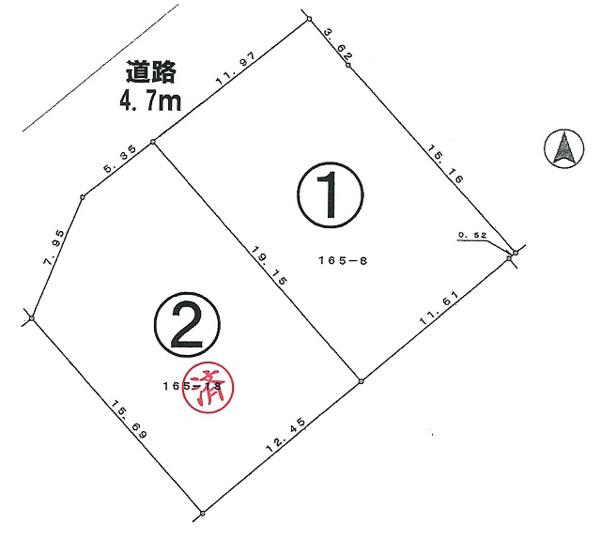 【土地図】東豊中町3丁目1号地建築条件無売地