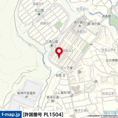 【地図】渦ケ森コーポ18号館