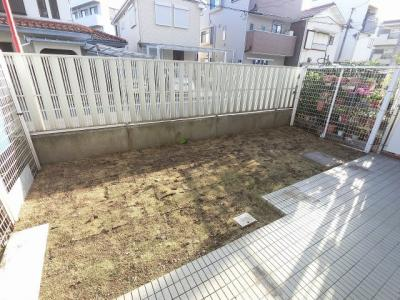 開放感のある専用庭です。