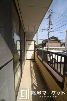 【バルコニー】ハイツ3ON3