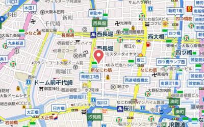 【地図】S-RESIDENCE西長堀