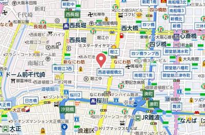 【地図】S-RESIDENCE南堀江
