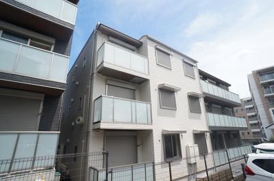 ※外観パース※積水ハウス施工の賃貸住宅シャーメゾン♪ペットOK!2021年9月完成予定の新築3階建てマンションです☆新しいお部屋に住みたい方にオススメ☆
