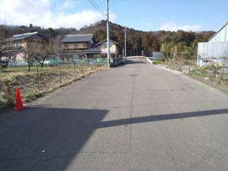 【前面道路含む現地写真】56462 岐阜市上土居土地