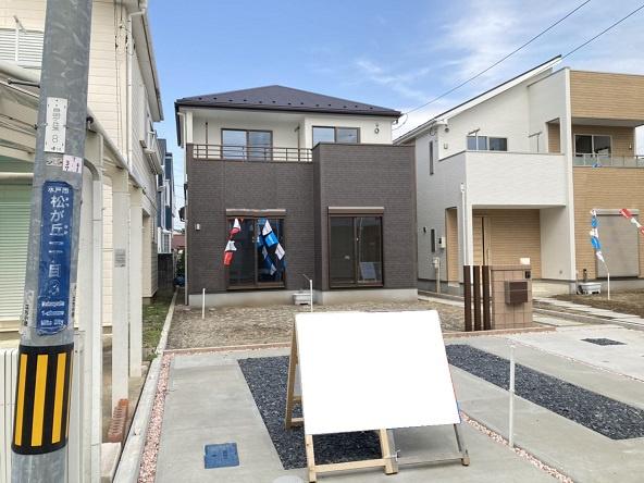 【前面道路含む現地写真】水戸市松が丘新築 1号棟