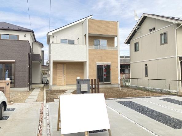 【前面道路含む現地写真】水戸市松が丘新築 2号棟