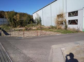 【前面道路含む現地写真】56463 岐阜市上土居土地