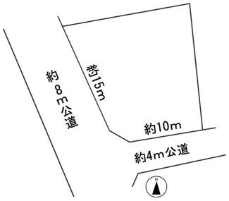 【区画図】56463 岐阜市上土居土地
