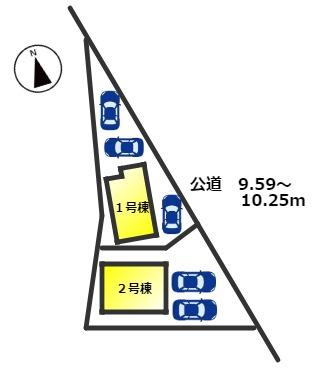 【区画図】東浦町森岡前田 新築分譲戸建