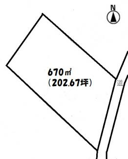 【土地図】建築条件付♪埼玉県坂戸市堀込売地