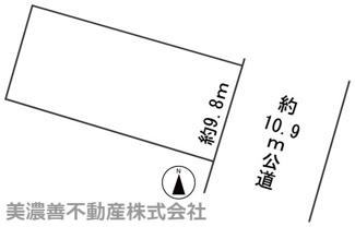 【区画図】56471 岐阜市大福町土地