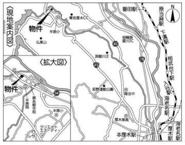 【地図】愛甲郡愛川町半原 準工業/近隣商業地域 売地