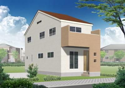 神明町No.A、カフェナチュラルスタイルのお家です。2階建ロフト付き。