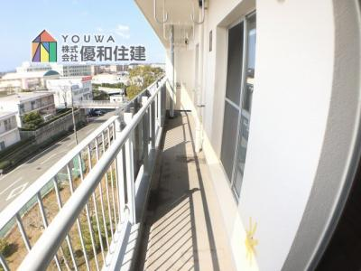 【バルコニー】大久保東第一住宅 22号棟