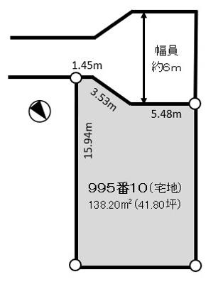 【区画図】北区すみれ野2丁目