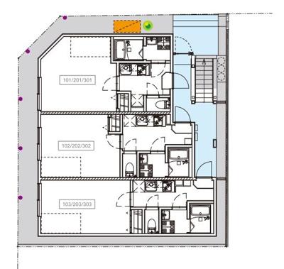 【区画図】TEN-NOM HOUSE DELUXE(テノムハウス デラックス)
