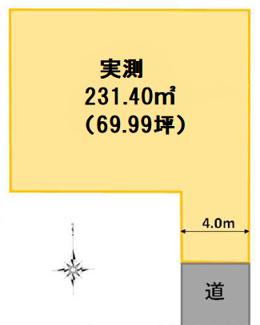【土地図】高崎市上中居町売地