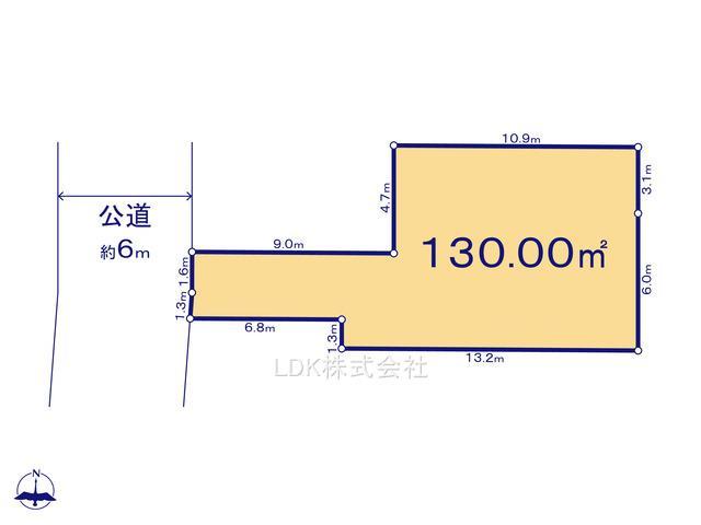 【区画図】建築条件なし売地/富士見市大字鶴馬(全1区画)