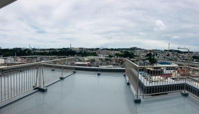 上層階からの眺望です。風通しも良好です。