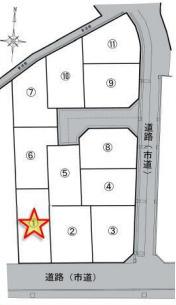 【区画図】八尾市恩智南町1丁目 1号地 新築戸建