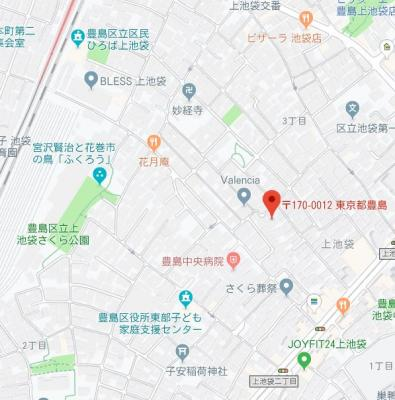 【地図】MAXIV池袋(マキシヴ池袋)