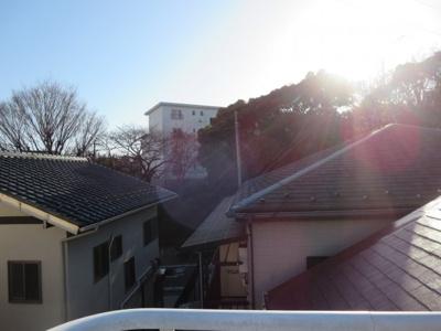 屋上からの眺望、日当たり良好