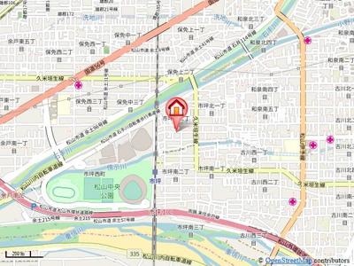 【地図】ライフ市坪