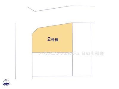 【区画図】名古屋市中川区江松1丁目 新築一戸建て 2号棟