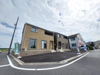 【前面道路含む現地写真】名古屋市中川区江松1丁目 新築一戸建て 2号棟