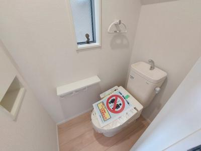 【トイレ】名古屋市中川区江松1丁目 新築一戸建て 3号棟