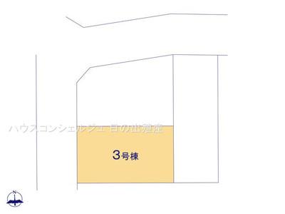 【区画図】名古屋市中川区江松1丁目 新築一戸建て 3号棟