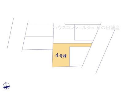 【区画図】名古屋市港区港楽2丁目406-1【仲介手数料無料】新築一戸建て 4号棟