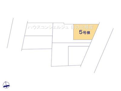 【区画図】名古屋市港区港楽2丁目406-1【仲介手数料無料】新築一戸建て 5号棟
