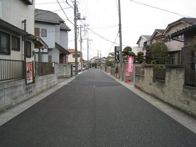 前面道路含む現地写真です 1号棟