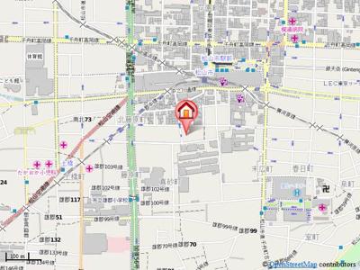 【地図】サントハウスⅢ