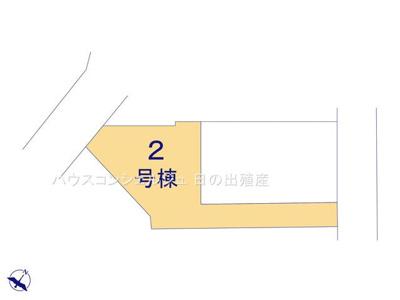 【区画図】日進市南ケ丘3丁目17-10【仲介手数料無料】新築一戸建て 2号棟