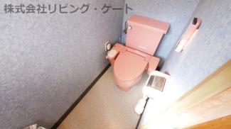 1階トイレ 壁・床・天井リフォーム済 ウォシュレット付き