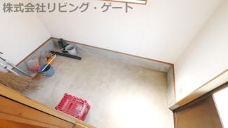 1階土間 大変便利に利用できます。