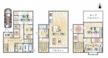 ◆2世帯住宅としても使用可能◆亀井町 中古戸建◆の画像