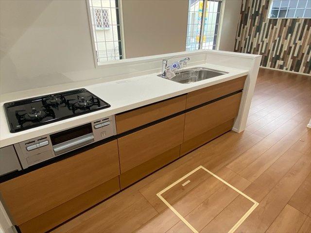 【キッチン】新築一戸建て「南足柄市和田河原」全2棟/残1棟