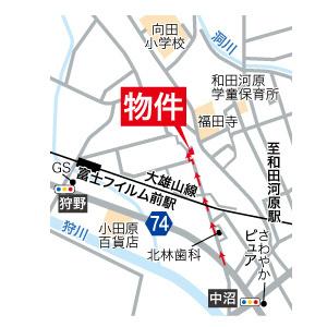 地図:カーナビ検索の際は「南足柄市和田河原1170-1」と入力ください!