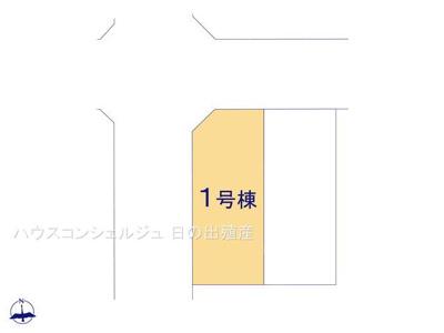 【区画図】名古屋市港区福田2丁目508【仲介手数料無料】新築一戸建て 1号棟