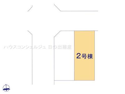 【区画図】名古屋市港区福田2丁目508【仲介手数料無料】新築一戸建て 2号棟