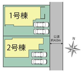 【区画図】駿東郡清水町徳倉 2号棟